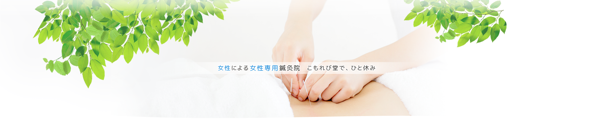 女性による女性専用鍼灸院 こもれび堂で、ひと休み