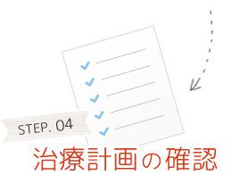 STEP.04 治療計画の確認